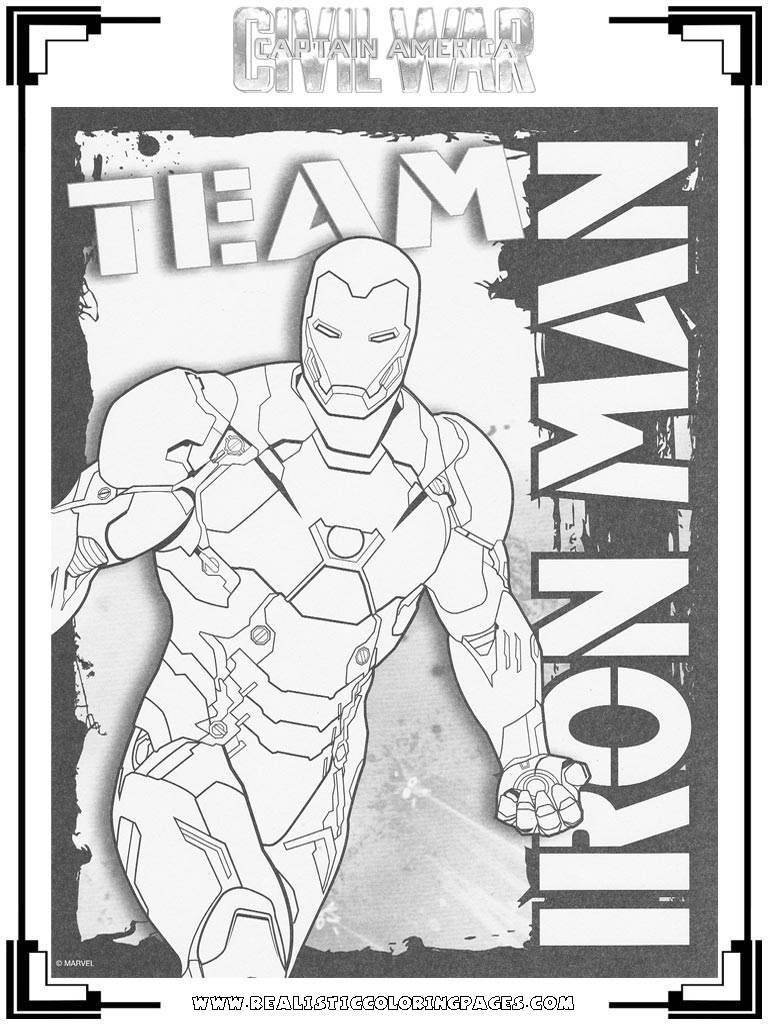 Captain America Civil War Printable Coloring Pages