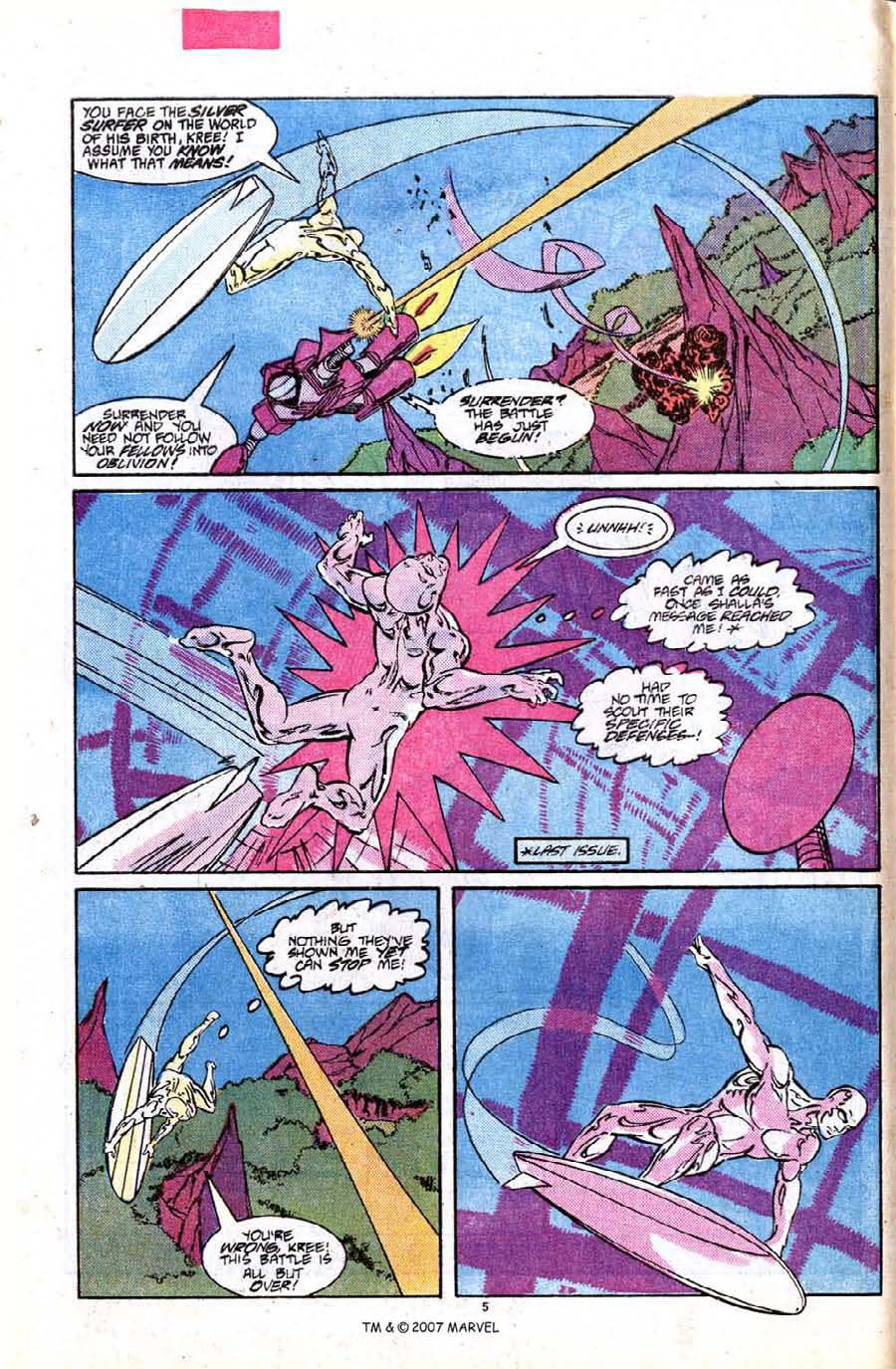 Read online Silver Surfer (1987) comic -  Issue #7 - 8