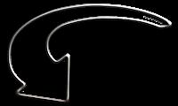 Seta arredondada cinza