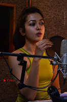 Actress Catherine Tresa Pos during Self Dubbing for Gautham Nanda Movie  0056.JPG