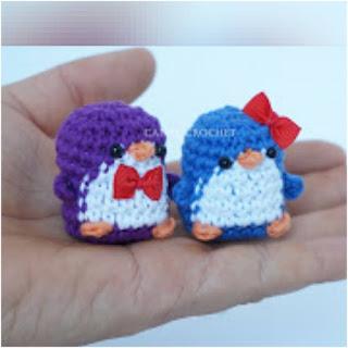 patron amigurumi Mini pingüino canal crochet