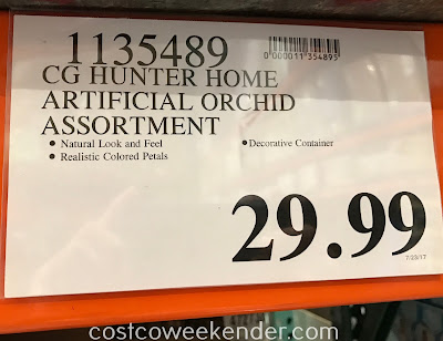 Deal for the CG Hunter Home Artificial Life-Like Orchid Arrangement at Costco