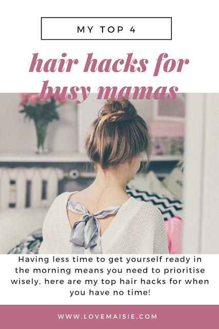 Hair hacks for busy mamas | PIN ME | Hair tips | Quick hair hacks | Love, Maisie | www.lovemaisie.com