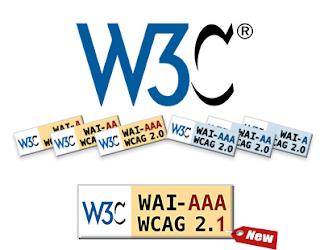 Iconos A,AA,AAA referentes a las pautas WCAG 2.1