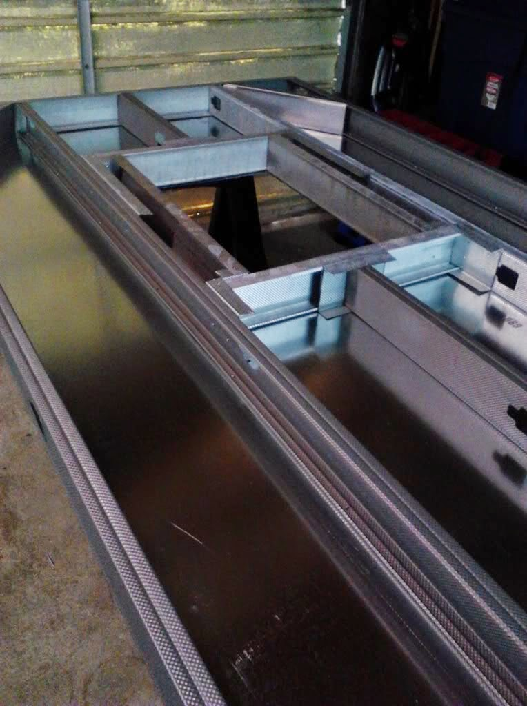 powder coating oven build access door 2