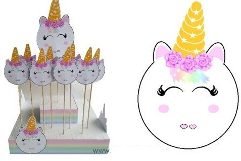 Unicorn Faces: Free Printable Toppers, Labels And More. - Oh My Fiesta! In  English