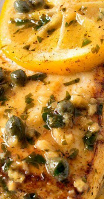 Pan Seared Halibut With Lemon Caper Sauce