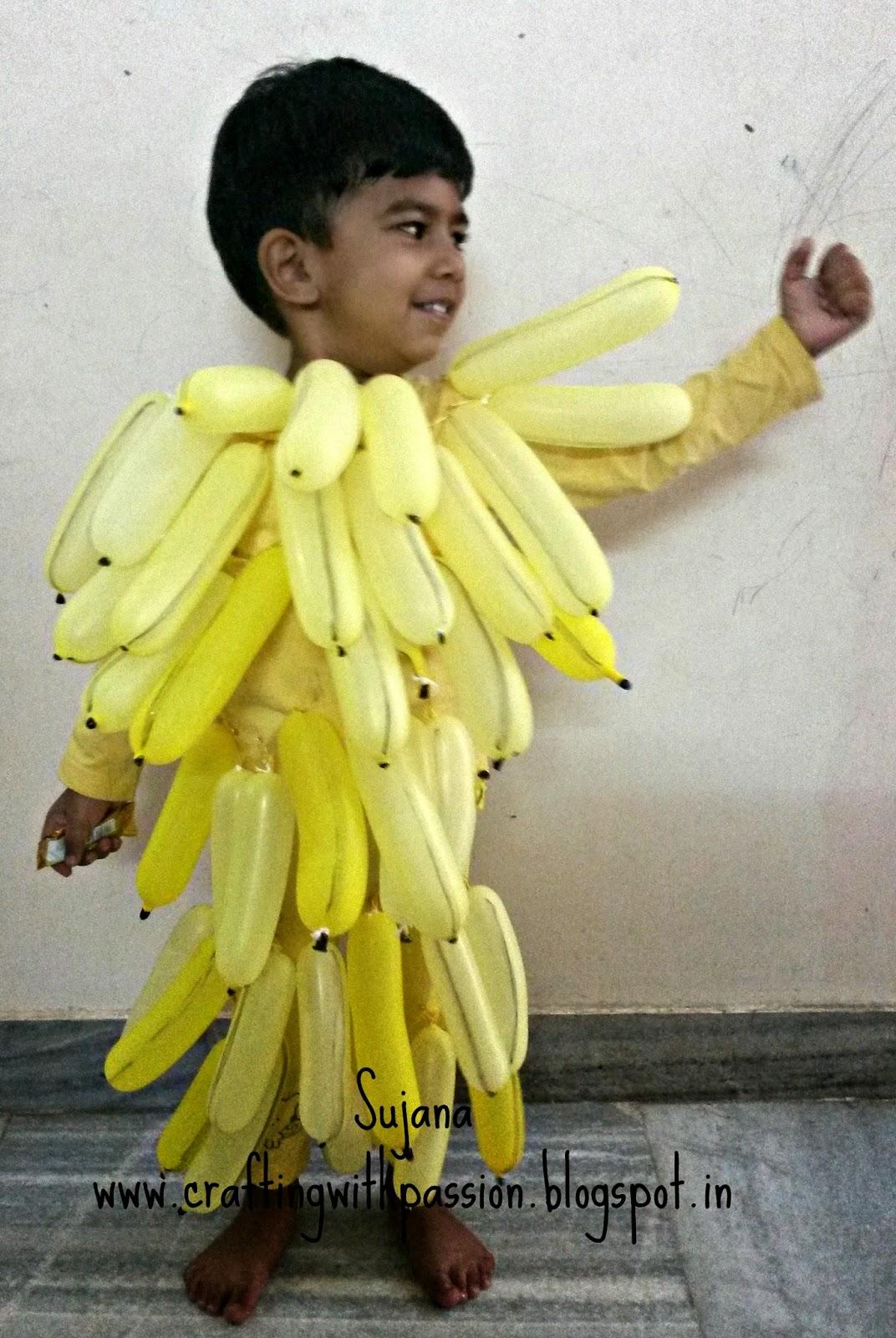 Bunch of Bananas- Fancy Dress Costume  sc 1 st  Crafting With Passion & Crafting With Passion: Bunch of Bananas- Fancy Dress Costume