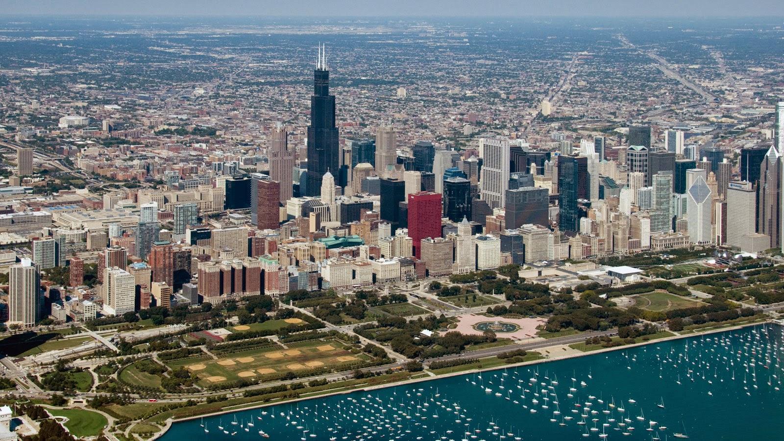 Grant Park em Chicago nos Estados Unidos