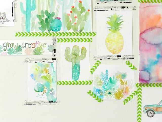 Washi Tape Decorating Idea: art gallery