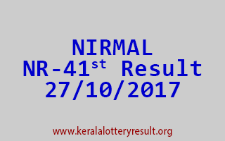 NIRMAL Lottery NR 41 Results 27-10-2017