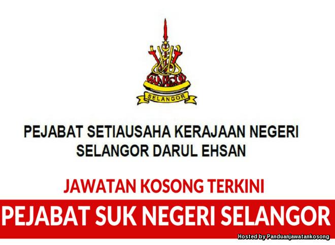 Iklan Jawatan Kosong Pejabat SUK Negeri Selangor