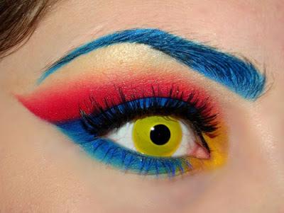 Eye Shadow red blue