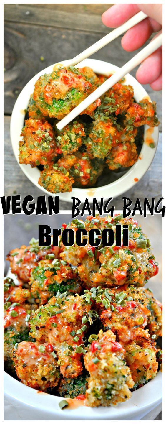 Vegan Bang Bang Broccoli #bangbang #vegan #veganrecipes #broccoli #easyrecipes