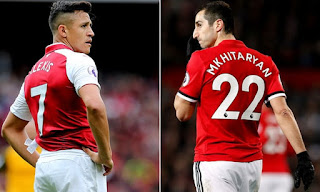 OFFICIAL: Alexis Sanchez has moved to Man Utd while Henrikh Mkhitaryan has switched to Arsenal