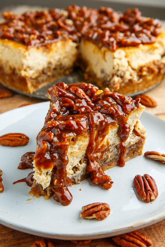 Pecan Pie Cheesecake With Pecan Caramel Sauce Recipe On