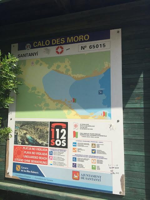 Caló des Moro - entrada da praia, Mallorca.