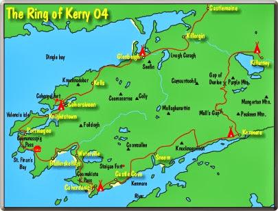 Anillo De Kerry Mapa.Nomadsally Traveling The Beautiful Ring Of Kerry