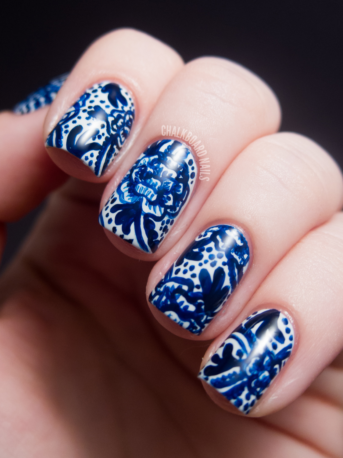 Blue Nail Trend: 31DC2012: Day 05, Blue Nails