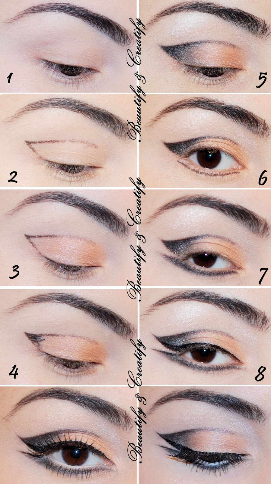 Cut Crease Makeup: Beautify And Creatify: Neutral Thin Cut Crease Cat-Eye