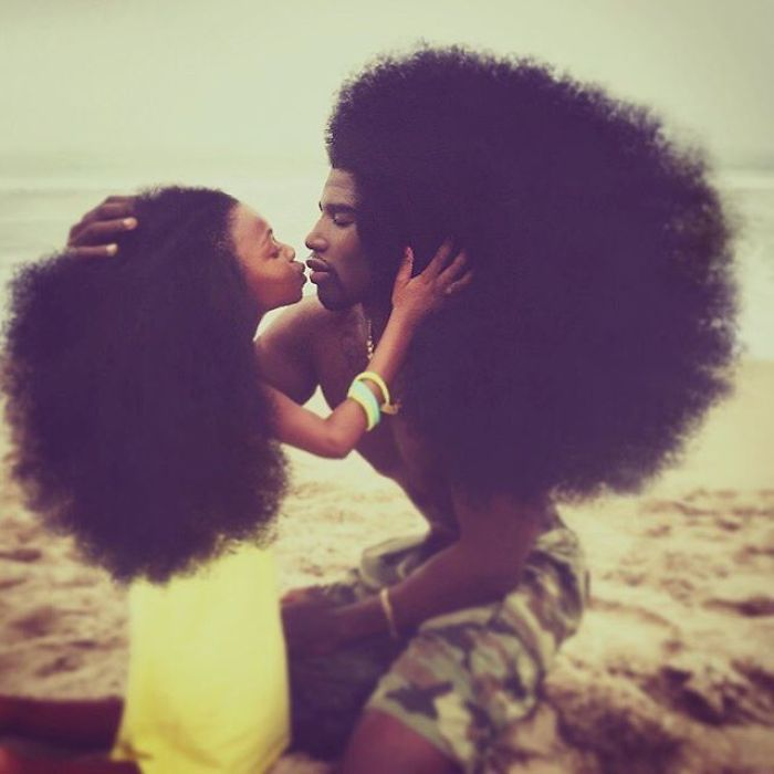 Father & Daughter Duo Takes Over The Internet With Their Natural Hairdos - 'Parents continuously grow if we pay attention to our children's Godly Sunlight'