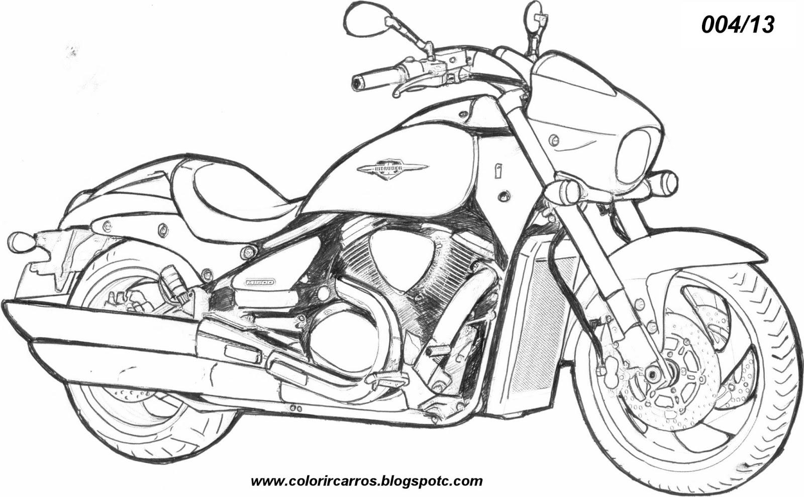 Kleurplaat Motor Harley De Professor Adilson Colorir Carros