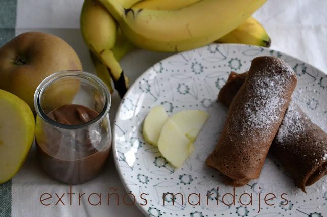 """Crêpes De Chocolate """"roulées"""""""