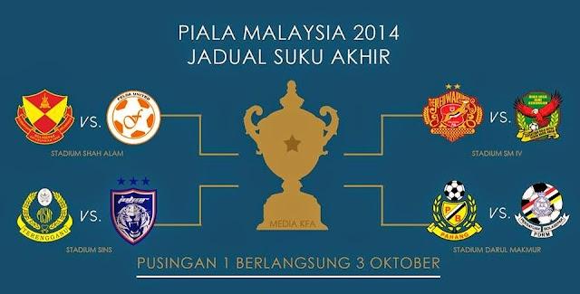 SUKU AKHIR PERTAMA PIALA MALAYSIA 2014