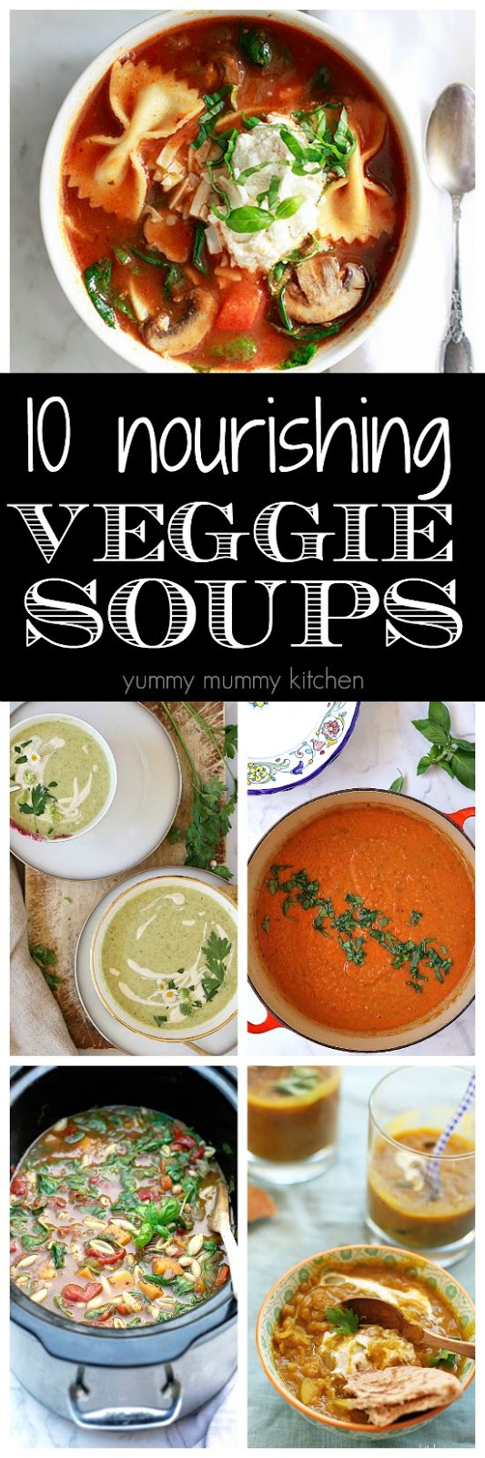 These 10 vegetarian and vegan soup recipes are easy to make, filled with healthy ingredients, and so delicious!