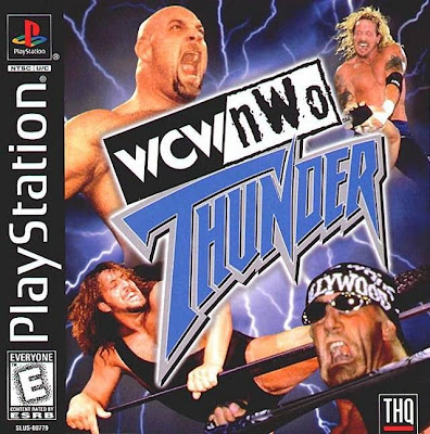 WCW/nWo Thunder Cover Art PlayStation PS1 THQ