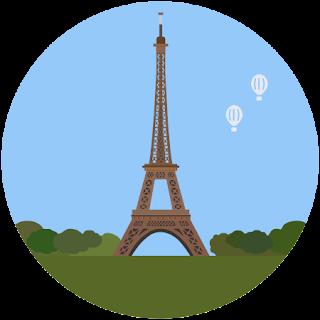 Эйфелева башня - маленькая картинка