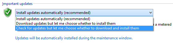 Enabling Update Settings on Windows 10