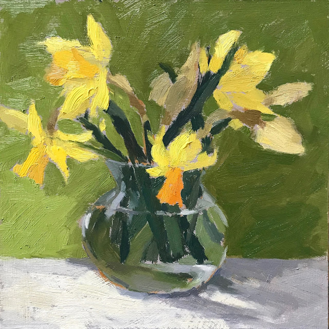 #322 'Mixed Daffs' 8×8″