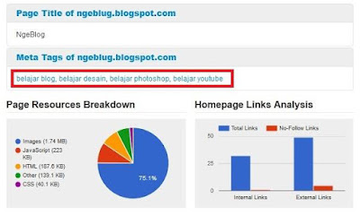 Pengertian Dan Cara Menggunakan LSI Keyword Di Blogger - Hasil Check Blog Lengkap dengan Cutestat