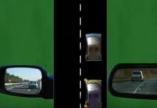 قبل التجاوز مراقبة  حالة السير طريق