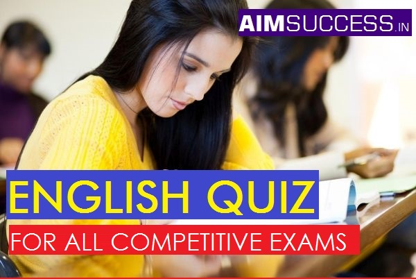 English MCQ  for SBI PO 2018: 26 April