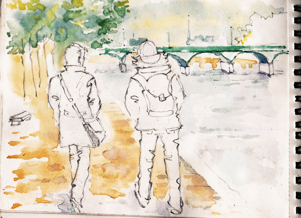 Paris, Carnet de Voyage Sketchbook