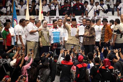 Ketika Prabowo Salah Ucap Menyebut Dirinya Nomor Urut 01