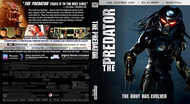 The Predator 4k Bluray Cover