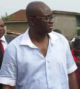 governor fayose N44million g wagon catches fire