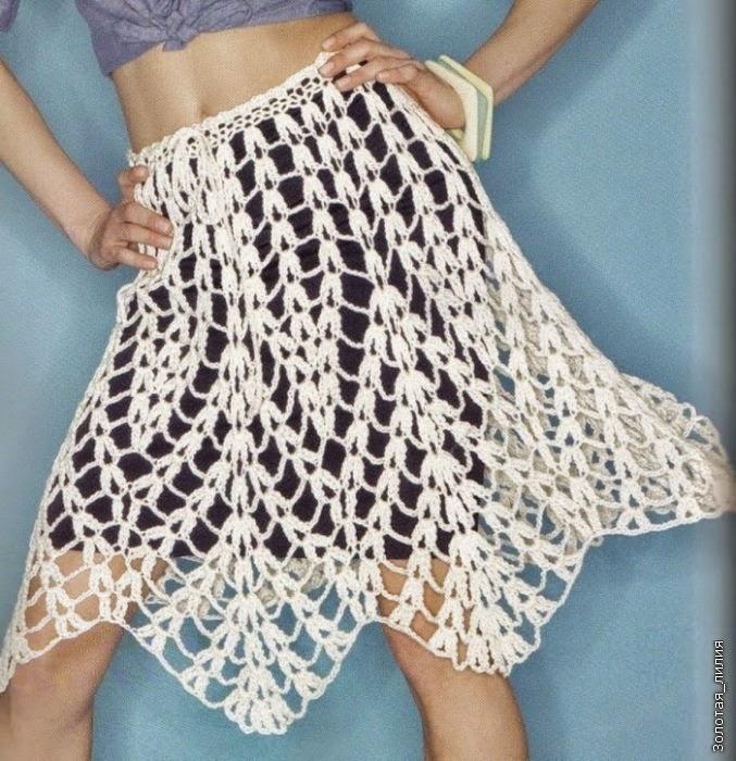 Falda de puntas a Crochet o Ganchillo
