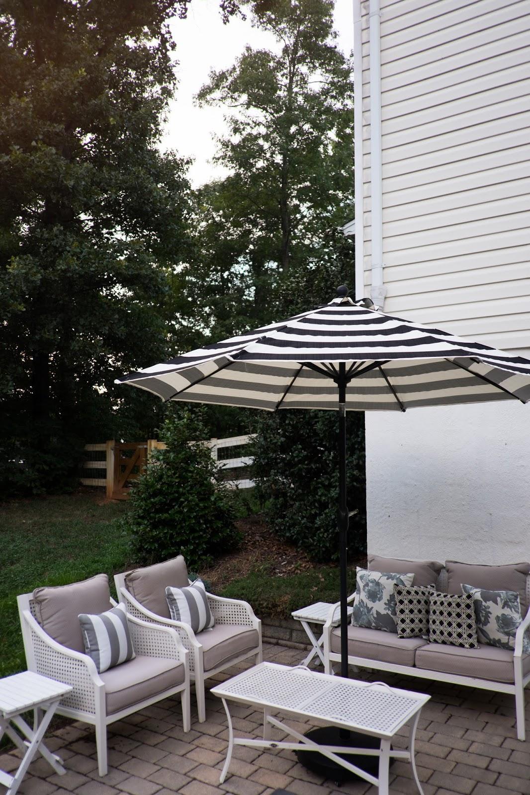 domestic fashionista backyard patio