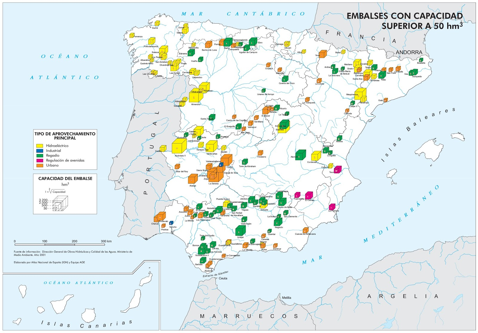 Educacion Forestal Los Principales Embalses De Espana Por Capacidad