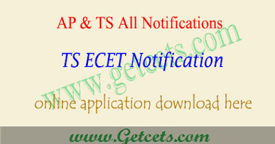 TS ECET 2020 notification, Telangana ecet application form 2020