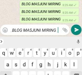 tulisan whatsapp miring/italic
