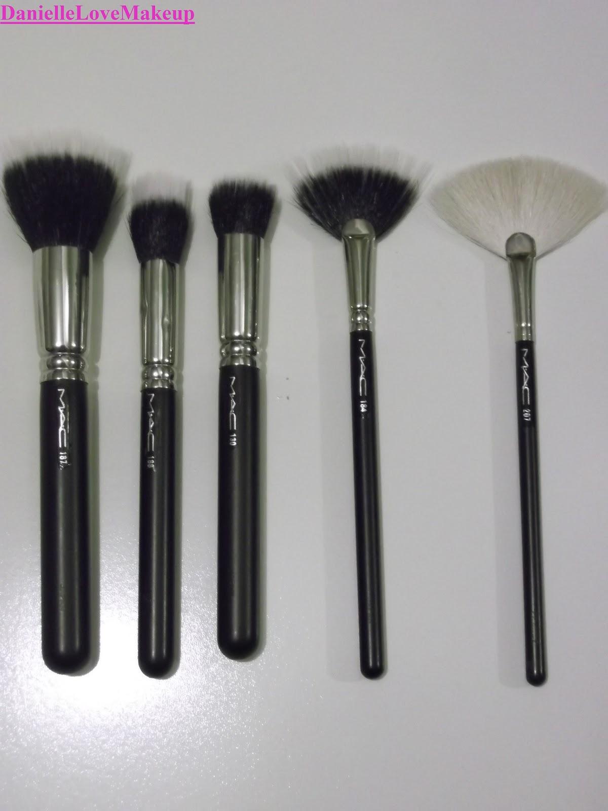 Mac 168 Large Angled Contour Brush: DanielleLoveMakeup: My Current MAC Brush Collection