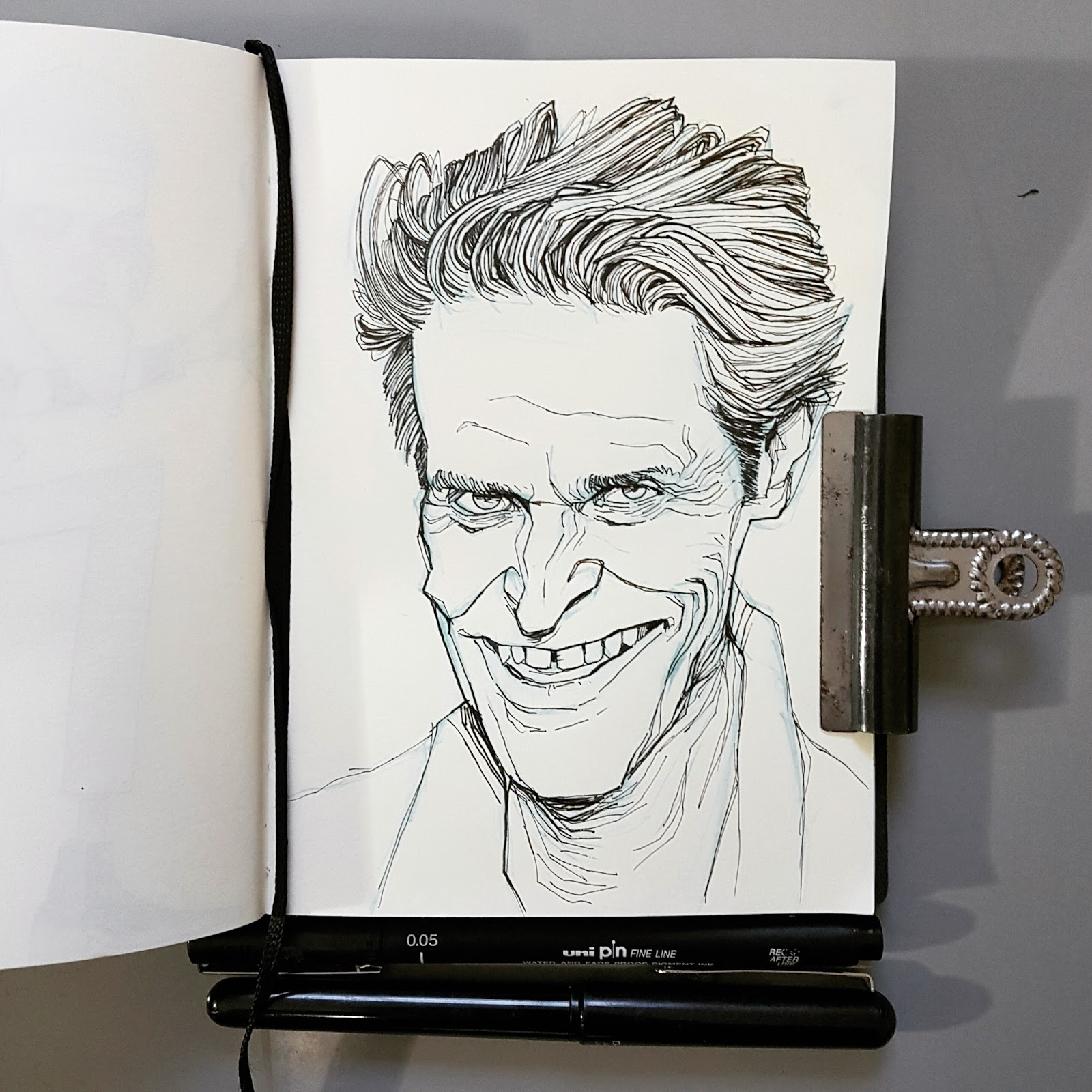 sketchbook illustration Willem Dafoe