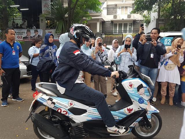 Relawan Paslon 02 Bakal Serbu Daerah Terpencil Naik Motor Prabowo-Sandi