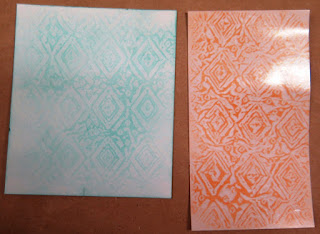 Wax resist samples zena kennedy independent stampin up demonstrator,
