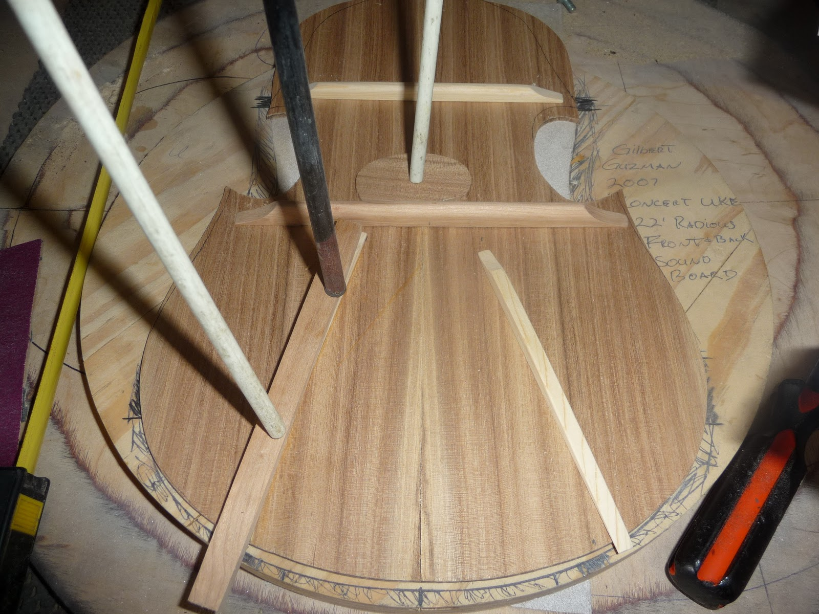 Forming wood strips for bracing